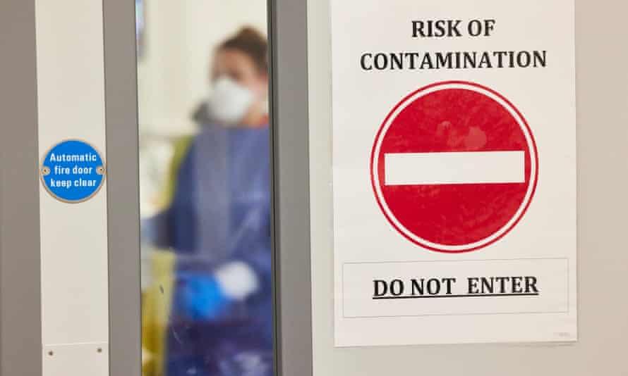 A Covid ward at Milton Keynes Hospital.