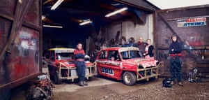 UntitledPaul Plews: 'The racing mad Atkins Family, photographed at their Suffolk garage while prepping for a MiniStox Race meet'