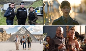 clockwise from top left: Line of Duty, Normal People, Noughts + Crosses, Us.