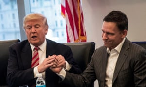 Peter Thiel with Donald Trump. He has become an adviser to the new US president.