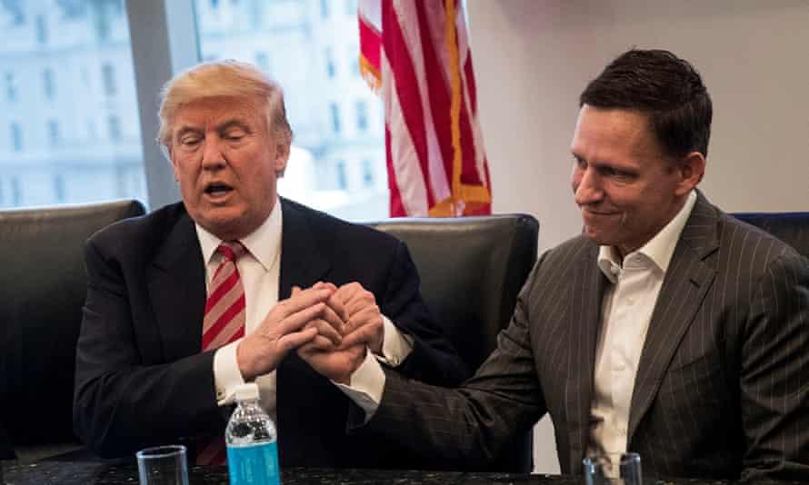 Donald Trump and Peter Thiel.