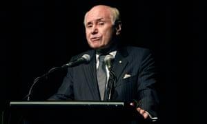 Former Australian prime minister John Howard.