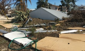Damage from Hurricane Irma in Marathon, Florida.