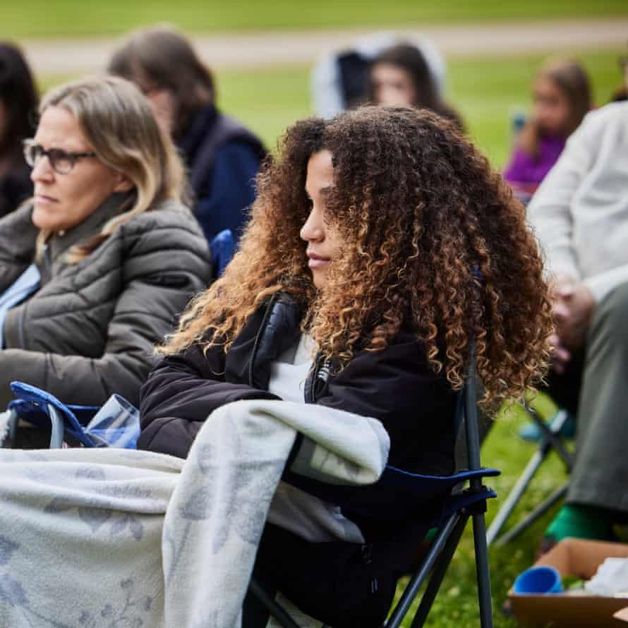 Picnic chairs and blankets at Waddesdon Manor