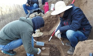 Scientists unearthed the tools at a site in the Loess Plateau in China.