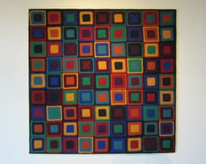 Psesudoku: A crochet version of three superimposed Sudolu patterns.