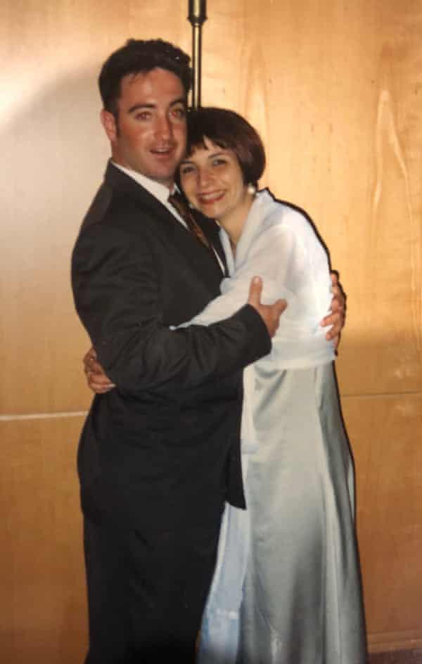 Gary and Jayne embracing