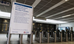 Blackfriars tube station closed due to the 24-hour strike.