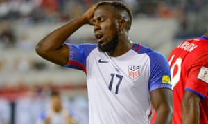 Jozy Altidore contemplates a missed chance against Costa Rica