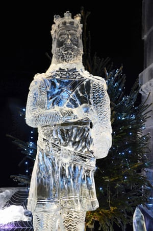 An ice sculpture of a medieval figure will make up part of The Ice Adventure: A Journey Through Frozen Scotland, held in Edinburgh