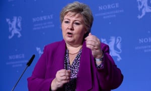 Erna Solberg in Oslo, Norway.