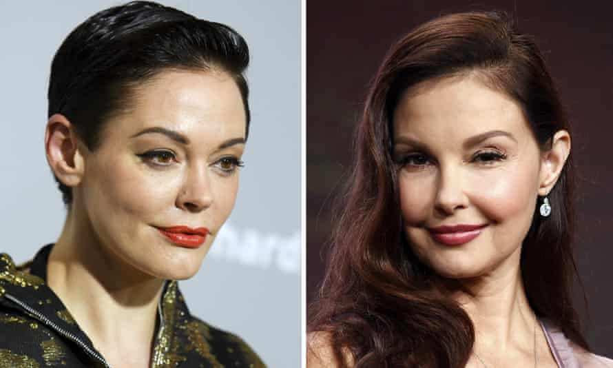 Hollywood actors Rose McGowan and Ashley Judd, who have accused Harvey Weinstein of sexual assault.