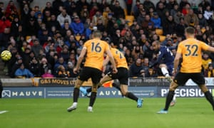 Lucas Moura drives in Tottenham's opening goal