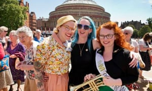 WI members mark their centenary with a meeting at the Royal Albert Hall