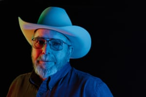 John Dofflemyer poses for a portrait at the 35th National Cowboy Poetry Gathering in Elko, Nev. on February 1, 2019.