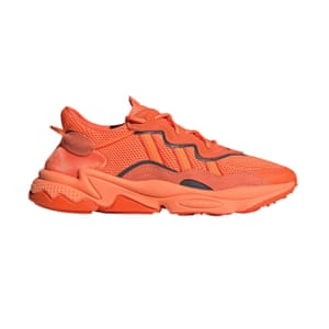 Colour-pop trainers offset a neutral outfit Orange, £89.95, adidas.co.uk.