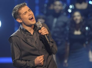 Joe McElderry on The X Factor in 2009.