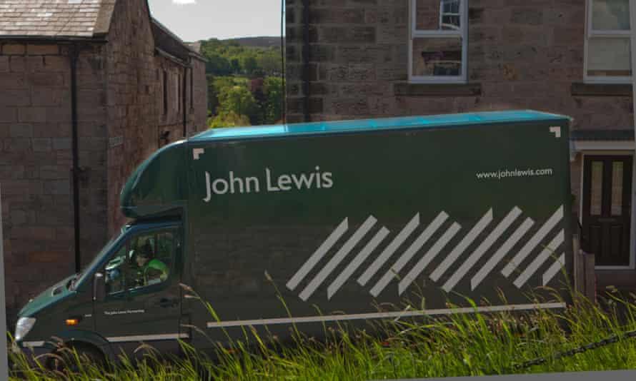 A john lewis delivery van