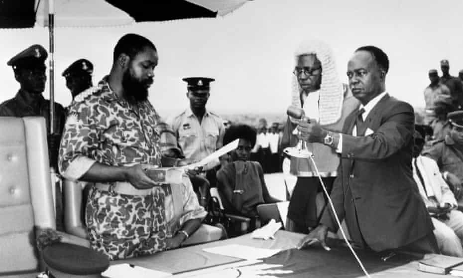 Lt Col Odumegwu Emeka Ojukwu declares the independence of Biafra, in May 1967.