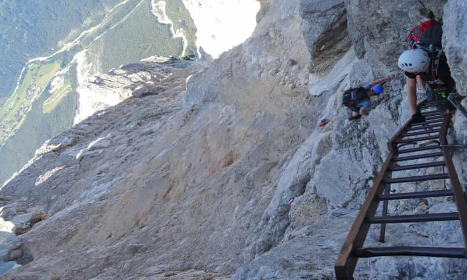 The 1km drop on Francesco Berti via ferrata.