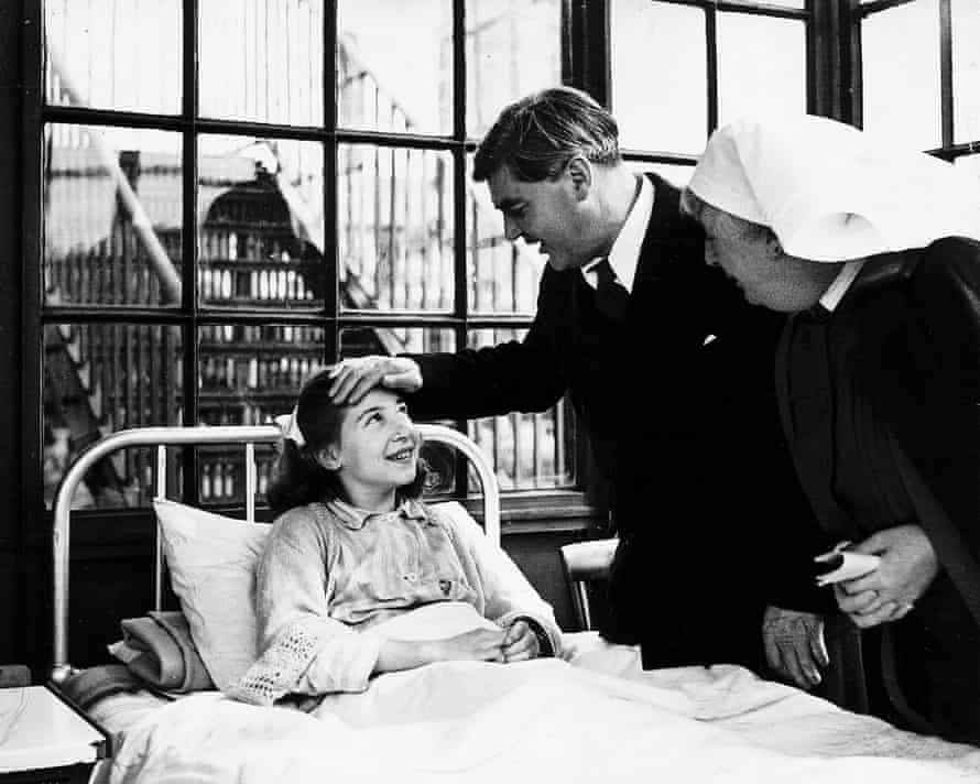 Aneurin Bevan is toured around Park hospital in Davy Hulme, Lancashire.