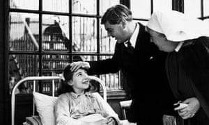 Aneurin Bevan, founder of the NHS, in Park hospital, Lancashire