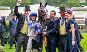 The Grand Visir team celebrate as do followers of the Guardian racing tips.