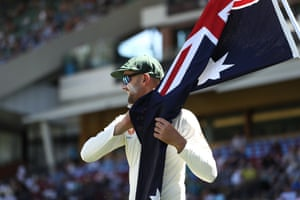 Nathan Lyon dug deep for Australia on a hot day in Adelaide.