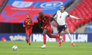 Jordan Henderson (right) was in the thick of the action against Belgium at Wembley.