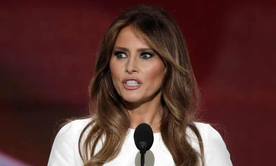 Melania Trump speaks at the Republican national convention in Cleveland in July.