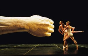 Before and After: The Fall at Sadler's Wells in 2001, designed by Clark's friend, the artist Sarah Lucas.