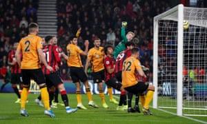 Wolverhampton Wanderers' Joao Moutinho scores their first goal.