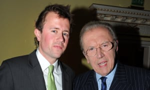 Sir David Frost with Miles at a Tatler party in London in 2012.