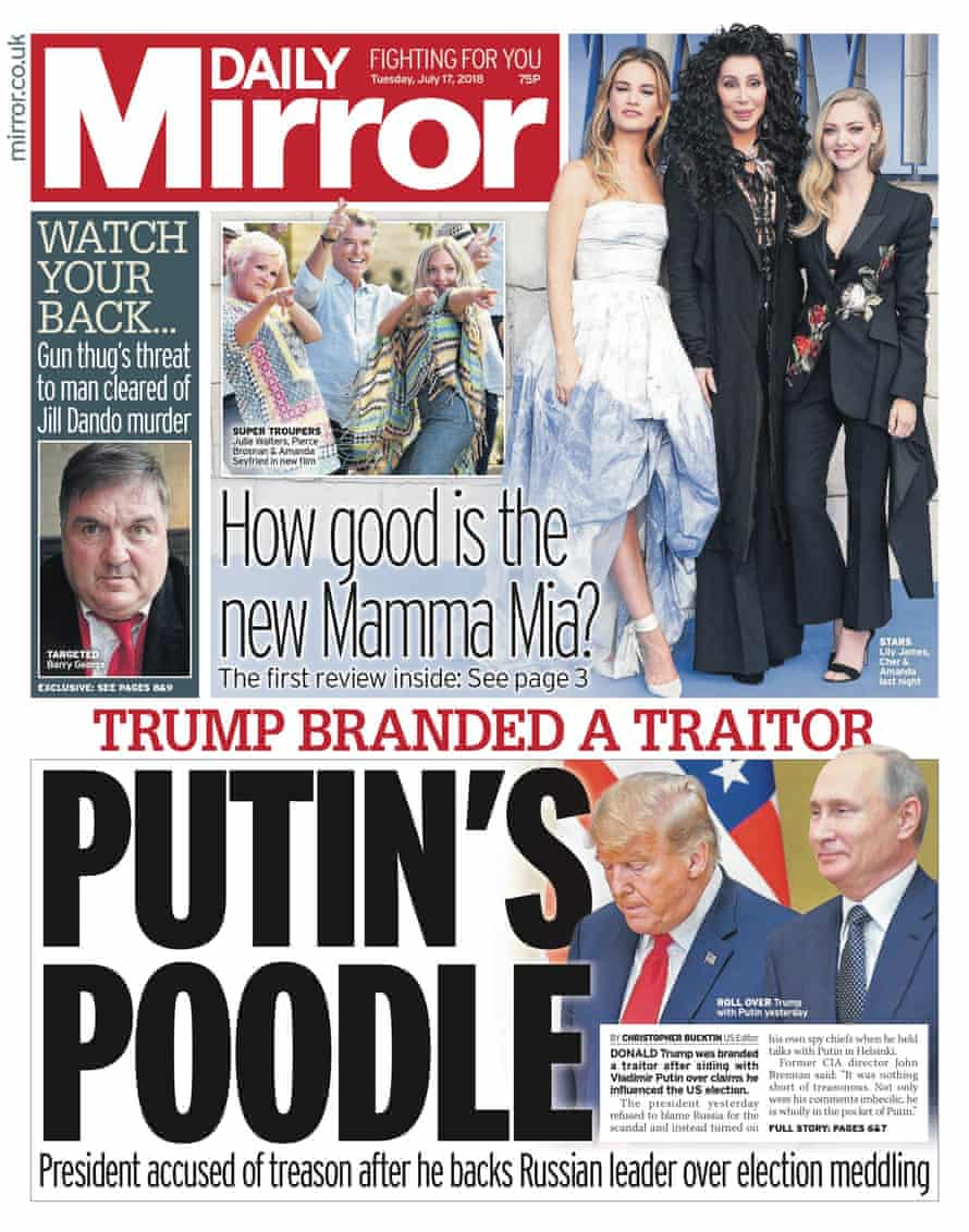 Mirror Trump front, 17 July