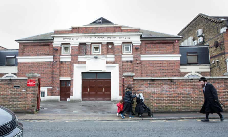 Pupils leave Beis Malka school in north London.