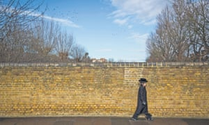 A Jewish boy in the Stamford Hill area of north London.