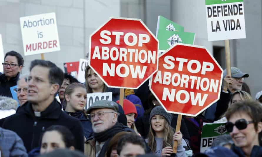 Participants in an anti-abortion rally.
