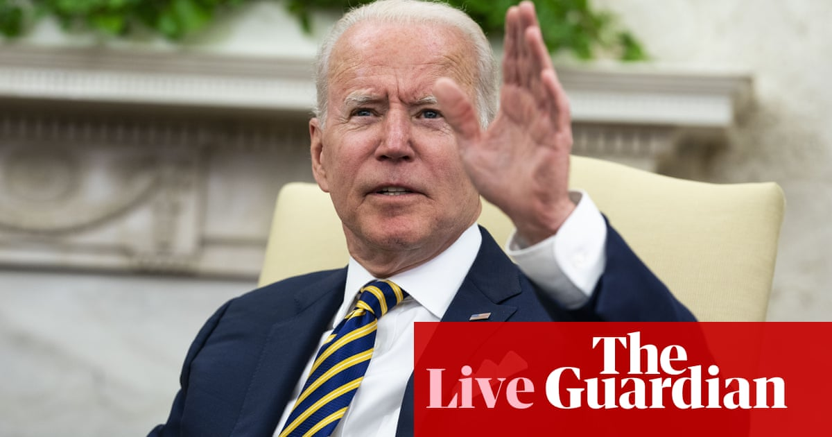 Biden to pitch infrastructure plan in Wisconsin amid some Democratic criticism – live