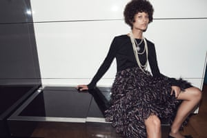 Texture at Chanel Cotton top, £1,240, embroidered tweed muslin skirt, price on request, and necklace, £2,030, (chanel.com)
