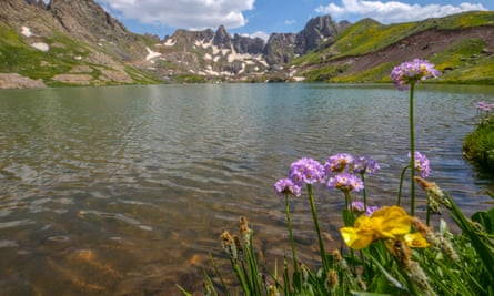 A glacial lake near Mount Cilo in Hakkari, eastern Turkey.