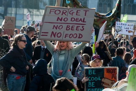 People attend the UK climate change protests