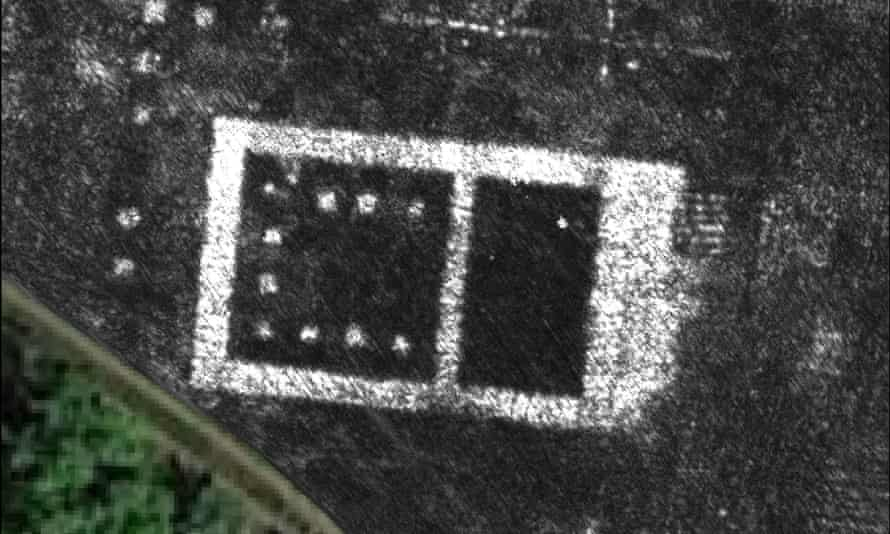 Ground-penetrating radar image of newly-discovered temple in the Roman city of Falerii Novi, Italy.