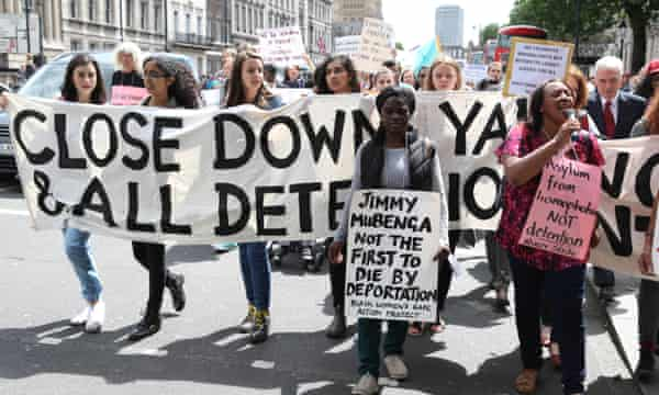 Protest to close Yarl's Wood and other detention centres held in London on 15 June.
