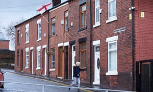 Row of houses in Middleton, Greater Manchester