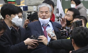 Sarang Jeil Church pastor Jun Kwang-hun was admitted to hospital after testing positive for coronavirus.