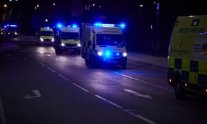 Emergency services rush to the scene of the terror attack at Manchester Arena which killed 22 concertgoers in 2017