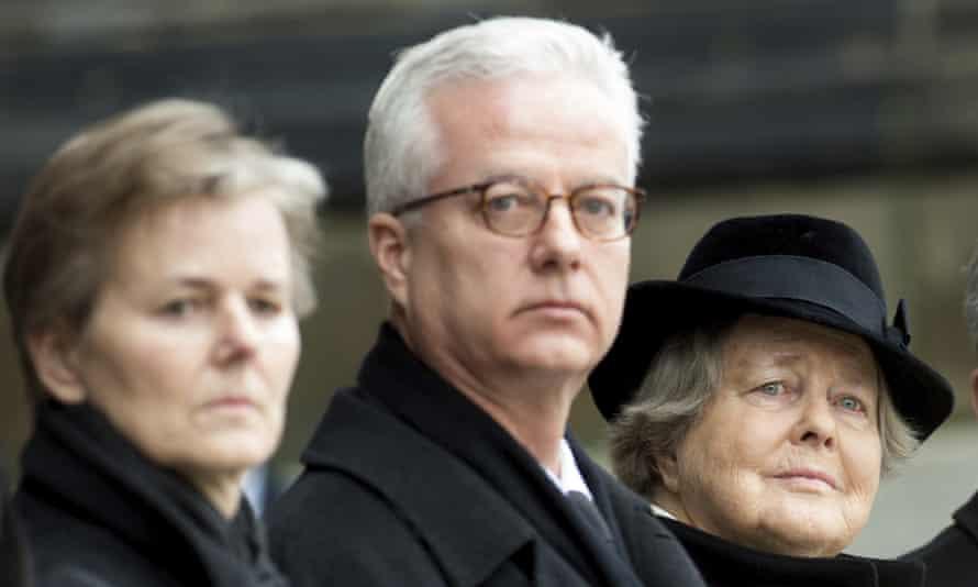 Fritz von Weizsäcker at his father's funeral in 2015