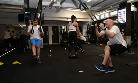 Guardian racing correspondent Greg Wood feels the strain at a Jockey Fit session.
