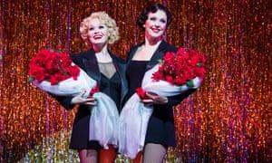 Sarah Soetaert as Roxie Hart and Josefina Gabrielle as Velma Kelly in Chicago.