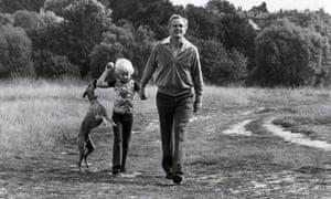 John le Carré on Hampstead Heath with his son Nicholas.